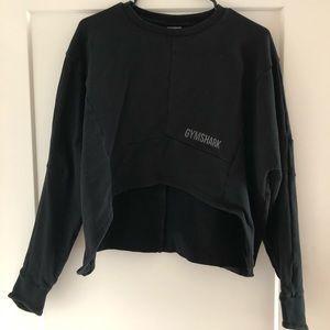 Black Cropped Gymshark Pullover